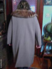 Gorgeous- Vintage 1940's-50's Ladies Gray- DELMAR -Original-fur collar coat