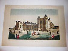 Vue d'Optique.Ecosse.Edimbourg.Vue du Palais d'Holyrood en Ecosse.