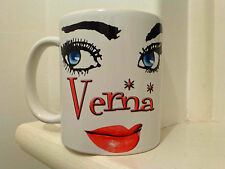 Personalised pretty face mug with your name.