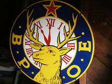 "B.P.O.E BPOE Elks Lodge 30"" Porcelain sign Excellent  A RARE FIND LOT #1"