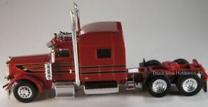 HO 1:87 TSH # 507 Peterbilt 389 Tandem Axle Tractor - Red/Black/Gold