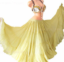 Pale Yellow 35 Yd  Skirt Gypsy Tribal Fusion Belly Dance ATS