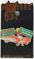 HOOTERS SEXY GIRL DUKES OF HAZZARD CONYERS GA GENERAL LEE PIN - HOMECOMING
