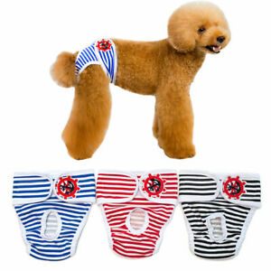 Washable Dog Diaper Female Pet Pant Reusable Puppy Multi-Colors Doggie Diapers