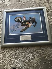 """132/200 Ricky Carmichael Signed and Framed Photo Rare Collectible 22"""" X 29"""""""