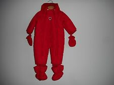 NWT  Chicco  Baby/Girl Red  Winter Snowsuit /Coat Hooded Size 62/6M