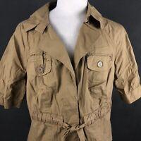 Lane Bryant Women's Belted Safari Style Shirt Jacket Size 16 Belted Coat