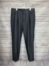 D70 Brooks Brothers 346 Charcoal Pleated Dress Pants Mens Size 36/29 100% Wool