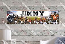 Personalized/Customized Denver Broncos Name Poster Wall Art Decoration Banner