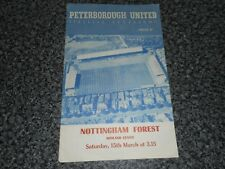 PETERBOROUGH UNITED  (PRE-LEAGUE)  v  NOTTINGHAM FOREST  1957/8 ~ MARCH 15th