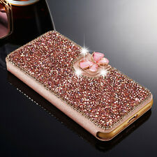 Luxury Crystal Bling Diamond Flip Leather Case Wallet Cover For iPhone 6s 7 5s