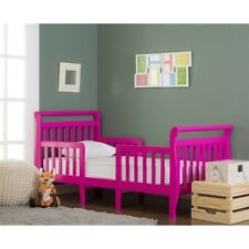 Dream On Me Emma 3-in-1 Convertible Toddler Bed in Fuschia Pink