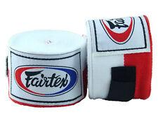 Fairtex Full Length Elastic Cotton Handwraps Boxing 1 Pair Red White Flag 180�