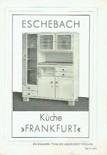 Eschebach Radeberg Prospekt Küche Frankfurt 1939