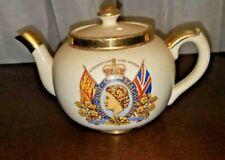 A Vintage 1953 Sudlow's of Burslem Queen Elizabeth Coronation Teapot #1182