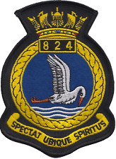 824 NAS Naval Air Squadron Royal Navy FAA Crest MOD Embroidered Patch