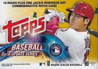 2018 Topps Baseball UPDATE Series MLB Cards 101ct Blaster Box= 1-J.R. Patch Card