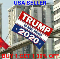 3x5 Ft Trump Flag 2020 No More BS Keep America Great President Donald Trump r2