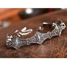Womens Vintage Silver Metal Chain Gypsy Hippy Festival Choker Bib Necklace HOT