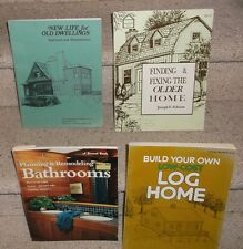 4 Vintage 1970s How To Log House Building Bathroom Remodel Old Home Repair Books