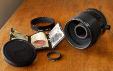 Nikon Reflex Nikkor 500mm F8 lens w/ HN-27 hood & 5 filters LATEST model