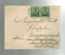1905 Tsingtao China German Post Office Army Cover to Germany