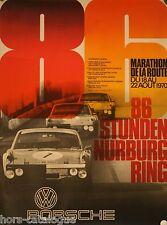 Affiche originale, Porsche, Stunden Nurburg Ring 1970 - Marathon de la route.