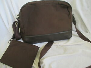 TUMI BROWN BALLISTIC LEATHER TRIMS MEDIUM TRAVEL CROSSBODY BAG