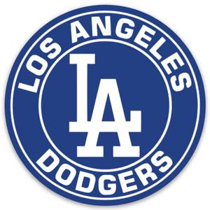 Los Angeles Dodgers Monogram Classic Logo Type Round Die-cut MAGNET