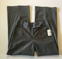 Larry Levine Womens Trouser Jeans Size 10 Gray Wide Leg Stretch  New