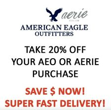 20% OFF American Eagle Coupon Code * Ex 10/30/20 * Fast Delivery