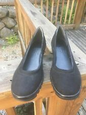 THE FLEXX Women's Black Suede Nubuck Slip On Shoes  Size 8 .5