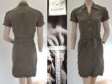 Badari Kleid Hemdkleid Outdoor Kurzarm Gürtel Knöpfe Safari Olivgrün 34 1A