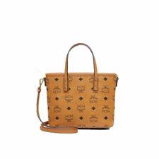 MCM Shopper Bag Mini Cognac Tasche Handtasche Henkeltasche Visetos DE
