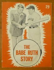The Babe Ruth Story Movie Book 1948