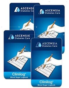 Ascensia Bayer Clinilog LogBook 4 Pack
