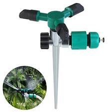 Bestomz 360 Degree Lawn Sprinkler 3-Arm Lawn Garden Sprinkler New In Box Nib
