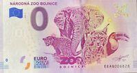 BILLET 0  EURO ZARODNA ZOO BOJNICE  SLOVAQUIE  2018  NUMERO DIVERS