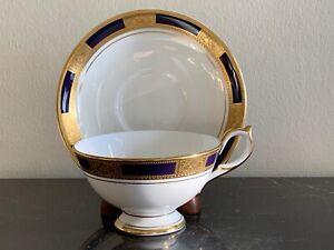 Aynsley China Empress Cobalt Cup and Saucer