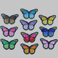 10x Embroidery Butterfly Patch Badge Sew Iron On Fabric Dress Applique Craft DIY