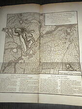 30 - CARTE MAP PLANS Campagne ITALIE 1745 &1746 TANARO BASSIGNANA VALENCE 1775