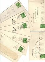 Great Britain KGV era covers x 7 all have triangle cancels