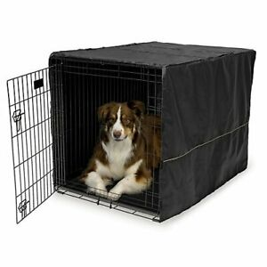 Midwest Quiet Time Black Dog Crate Cover 42 inch