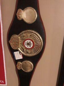 Mike Tyson Autographed WBA Championship Belt /16x20 Autographed Photo