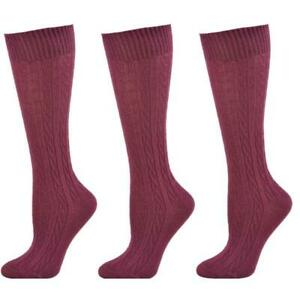 Gifts For Mom, Women's Classic Cable Knit Cotton Knee High School Uniform Socks