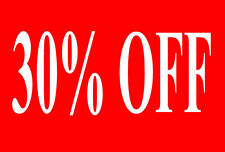 30% Off Sale Rail Double Sided Sign Card Retail Shop Display - High Quality