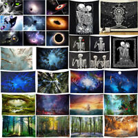 Forest 3D Universe Vortex Tapestry Wall Hanging Decor Cover Background Material