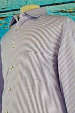 Lorenzini Men's Shirt Size 43 Italy 17 US Standard Cuff Striped Career Cotton