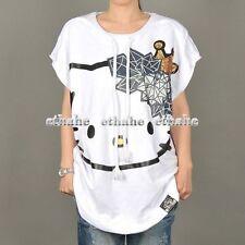 Hello Kitty Sleeveless Sweatshirt Blouse Top T-Shirt
