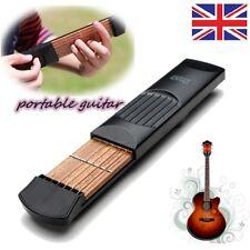 4 traste Modelo Bolsillo Cuerdas Guitarra Portátil práctica herramienta Gadget Novato experto